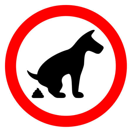banned: No dog pooping restricted sign
