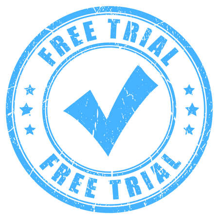 for example: Free trial vector rubber stamp