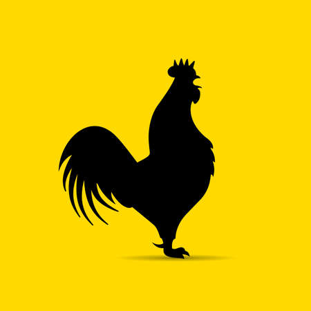 Rooster vector silhouette icon