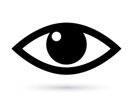 ojo humano: vector de ojo pictograma Vectores
