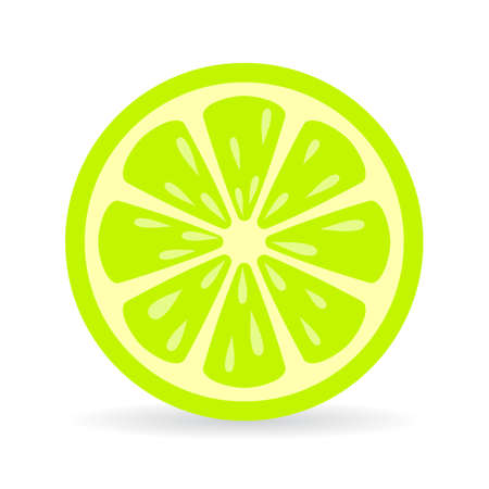 Lime slice vector icon