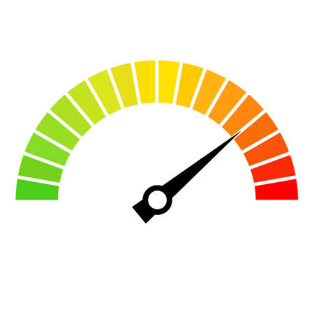rating: Speed metering dial vector icon