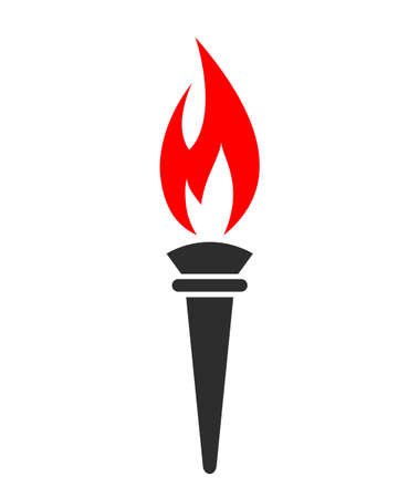 tongues: Torch fire vector symbol