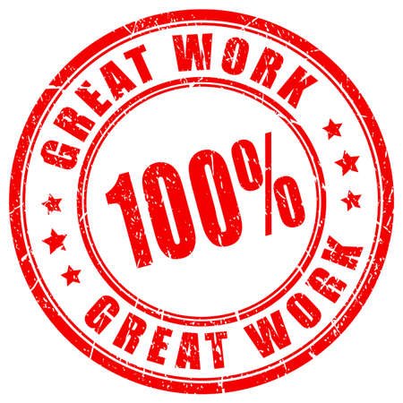 great: Great work rubber vector stamp