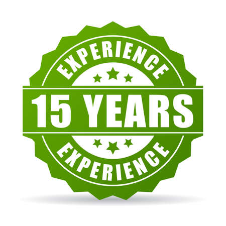 proved: 15 years experience vector icon