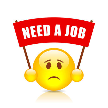 smiley: Need a job red banner