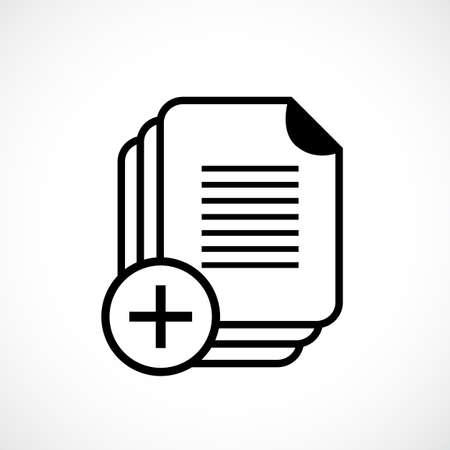 Document copy vector icon