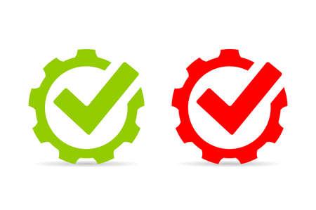 Gear tick abstract vector logo