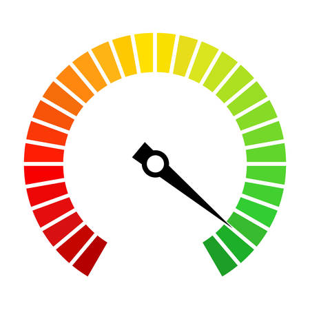 Speedometer dial vector icon