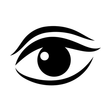 Women eye vector icon Illustration