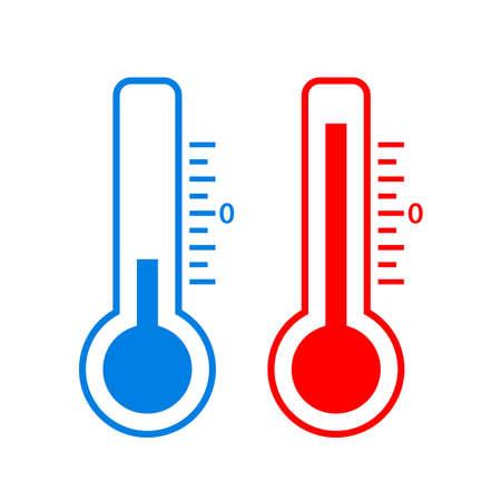 scale icon: Cold and hot temperature vector icon Illustration