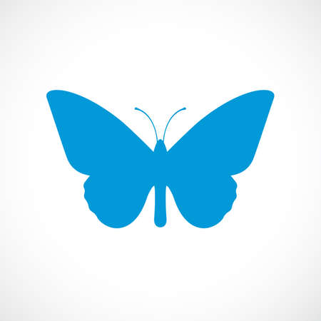 icon vector: Butterfly silhouette vector icon