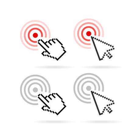 website buttons: Click cursor vector icon