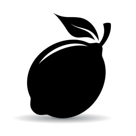 fruit: Lemon vector icon