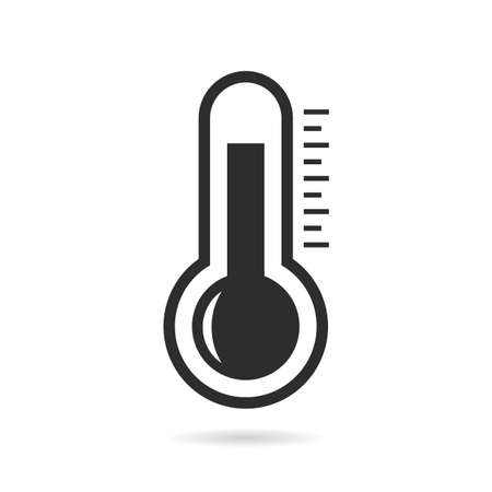 white background: Thermometer vector pictogram