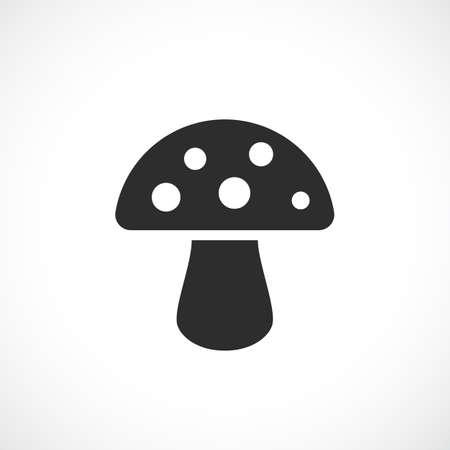 a toadstool: Toadstool mushroom vector icon