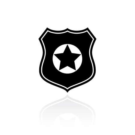 Simbolo di vettore di polizia