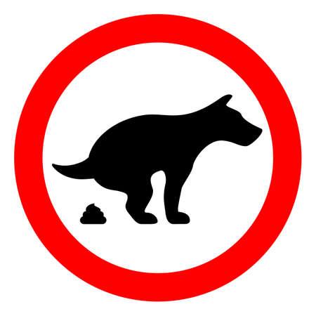 Pas de signe de vecteur caca à chien Banque d'images - 76488476