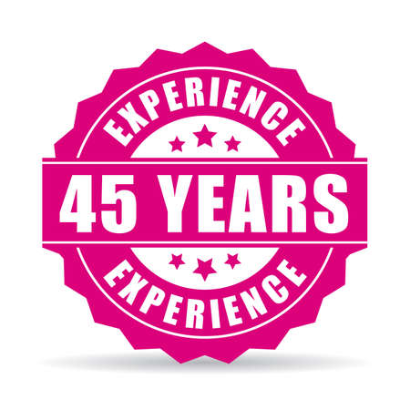 45th: Forty-five years experience vector icon