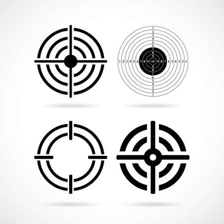 white background: Shooting target aim vector icon
