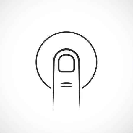 validation: Finger print reader vector icon Illustration