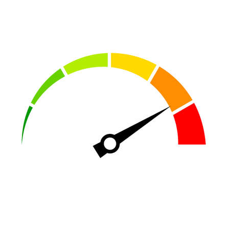 Speed meter vector icon Illustration