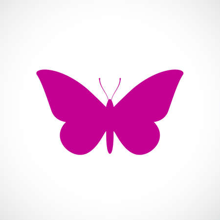 Butterfly vector icon Illustration