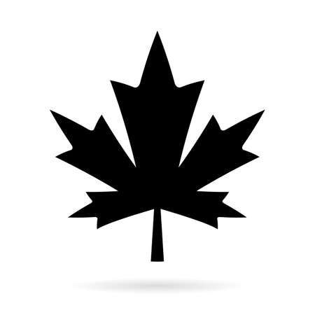 design elements: Maple leaf vector silhouette icon