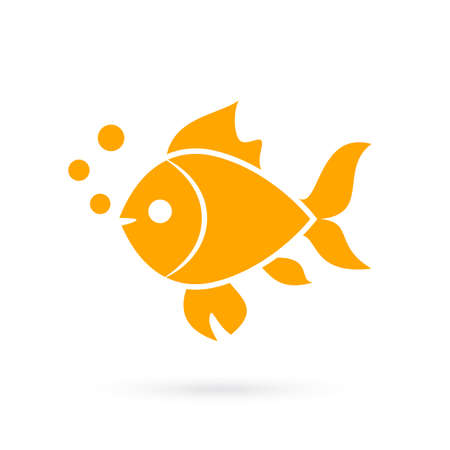 white background: Goldfish vector icon