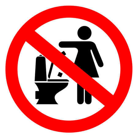 Do not flush feminine products sign Vettoriali