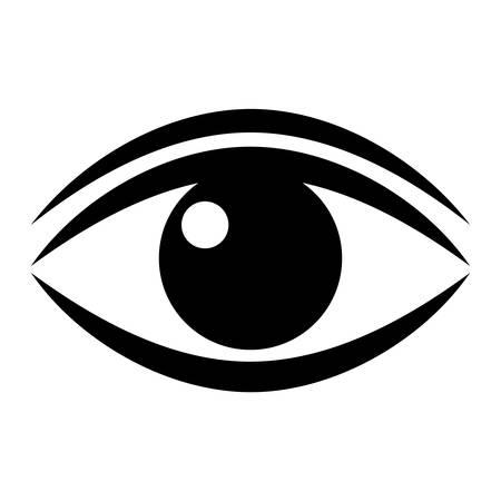 人間の目のベクトルのピクトグラム