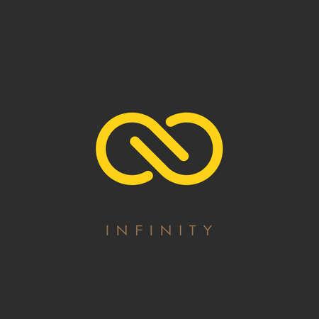 Minimalistic infinity vector logo Vettoriali