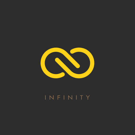 Minimalistic infinity vector logo Illustration