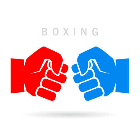 box: Boxing fist vector icon Illustration