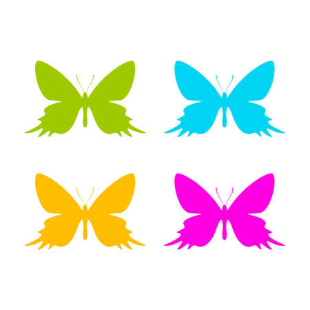Butterfly vector icon set
