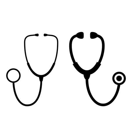 Stethoscope vector icon set Illustration