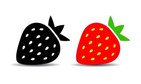 イチゴのベクトル図  イラスト・ベクター素材