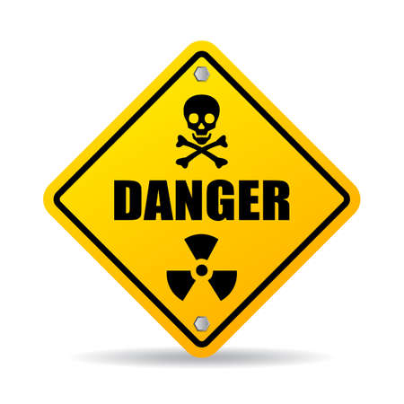 toxic substance: Danger warning sign