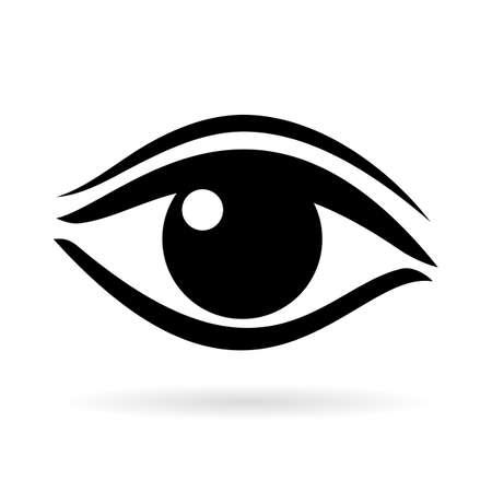 Women eye vector pictogram