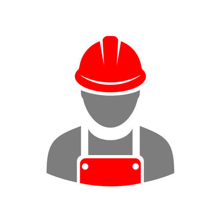 Laborer builder vector icon