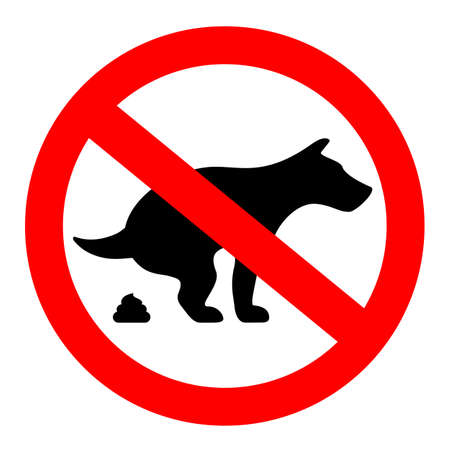 No dogs poop vector sign