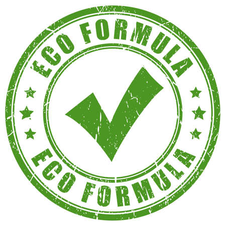 food: Eco formula green rubber stamp