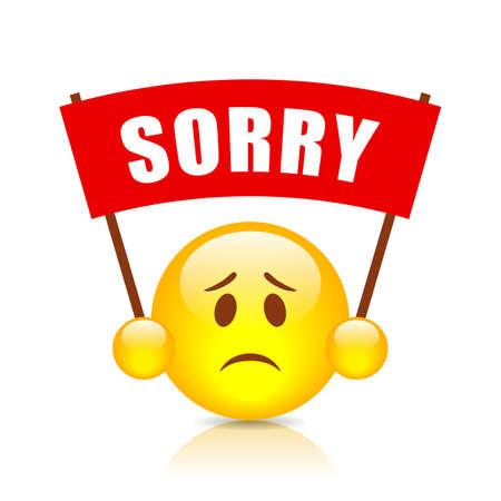 Sorry vector teken