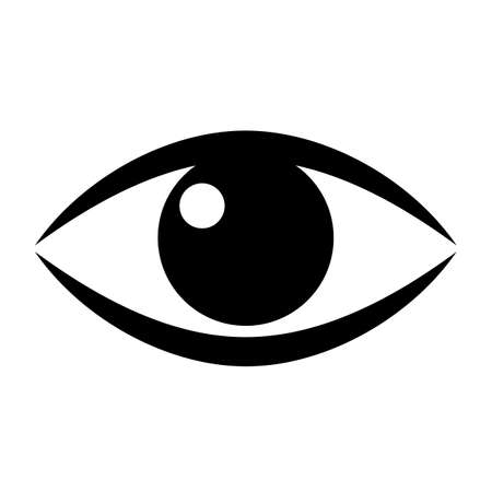sense of sight: Human eye vector icon Illustration