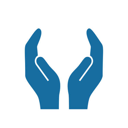 Protecting hands vector icon
