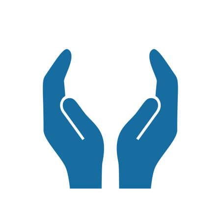 Protegiendo las manos vector icono Foto de archivo - 77956943