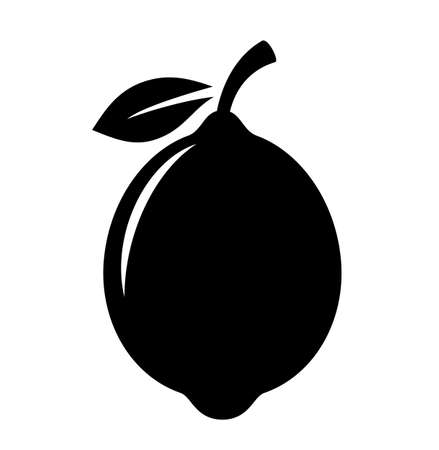 Lemon fruit vector silhouette icon