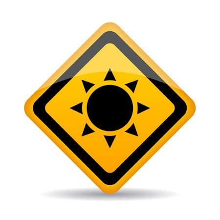 Sun radiation warning sign