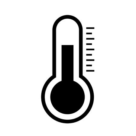 Simple thermometer vector pictogram Illustration