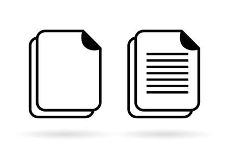 sheet of paper: Document vector icon Illustration